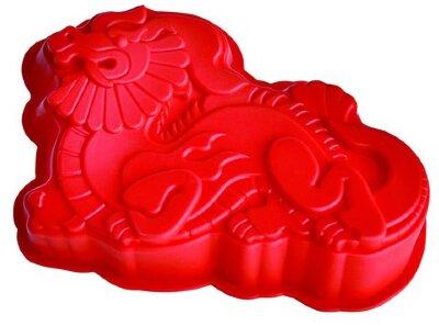 Силиконовая форма для выпечки 93-SI-FO-101 ДРАКОН 27х18х5 см, цвет Красный