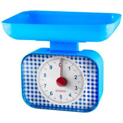 Весы механические настольные с чашей до 10 кг ENERGY EN-410МК- B квадратные,Синий