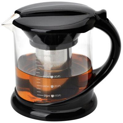 Mallony Decotto-1000 Чайник для заварки чая на 1 л стеклянный с фильтром из нержавеющей стали