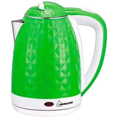 Homestar HS-1015 Чайник электрический с двойными стенками 1.8 л  1.5 кВт, Зеленый