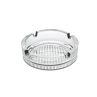 Пепельница круглая Mallony стекло диаметр 10.6 см рельефное дно