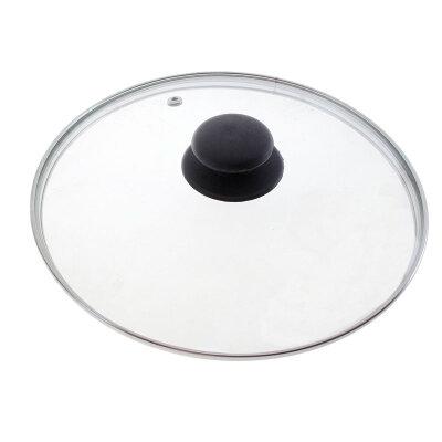 Крышка стеклянная 28 см Mallony металлический ободок, пароотвод