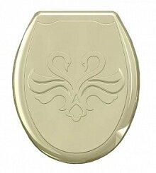 Сиденье для унитаза жесткое Лебедь 104-405-00-06 кремовое 37х45 см