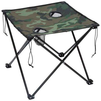 Складной туристический стол ECOS TD-07 50х60х60 см с чехлом, цвет камуфляж