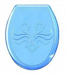 """Сиденье с крышкой для унитаза пластик """"Лебедь"""" 45х37 см , Голубой"""