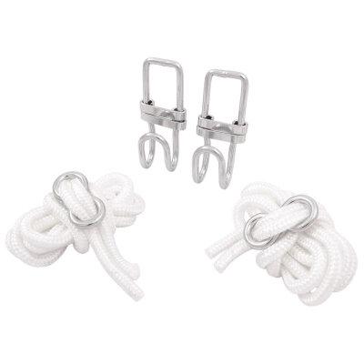 Крепления для гамака: 2 веревки, 2 крючка, 2 стопора ECOS FS-01