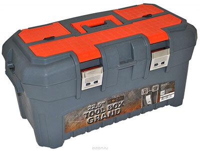 GRAND SOLID BR3935 Ящик-органайзер для инструментов пластиковый 22,5 дюйма
