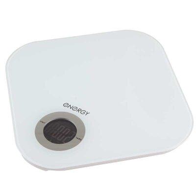 Весы бытовые кухонные электронные до 5 кг ENERGY EN-429 белые стекло