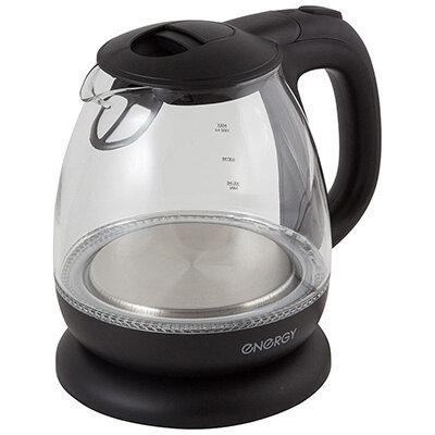 Чайник 1 л ENERGY E-296 электрический стекло 110 Вт, пластик
