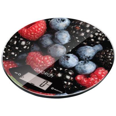 Весы  кухонные круглые до 5 кг Energy EN-403 Berries электронные