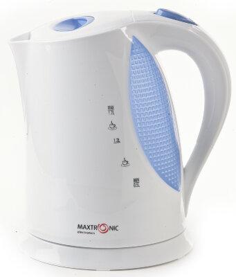 Чайник электрический пластиковый 1.7 литра MAXTRONIC MAX-728 1,7л, 2200Вт, дисковый, корпус пластик