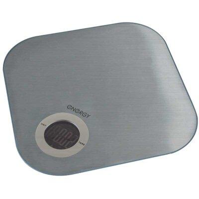 Весы бытовые кухонные электронные до 5 кг ENERGY EN-429S стекло и пластик