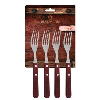 Blaumann BL-5014 Набор из 4 вилок кухонных с деревянной ручкой