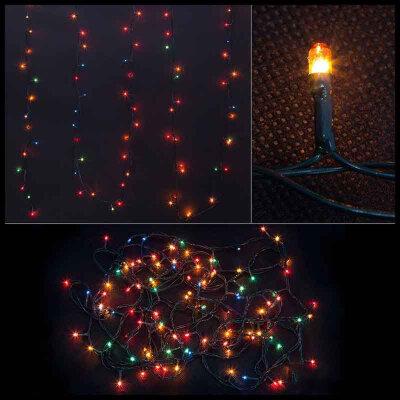 Гирлянда многоцветная постоянного свечения PR/R-100-5-MC 100 рисовых ламп, 5 метров