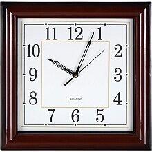 Часы квадратные настенные 33x33 см MAX-9738P1 Орех кварцевые офисные