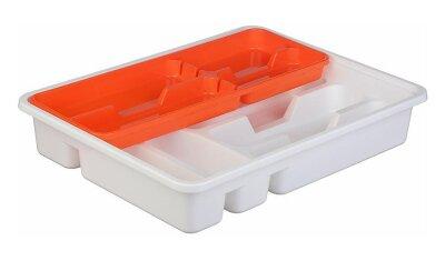 Лоток вкладыш М1146 М-Пластика для столовых приборов 2х уровневый