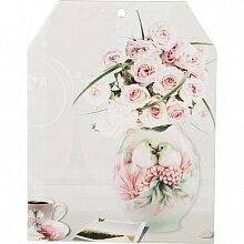 "Подставка под горячее ""Цветы в вазе"" арт. 229-169 Арти-М 16.5x21 см керамика"