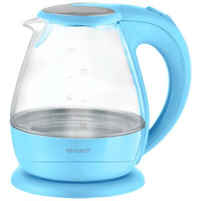 Чайник электрический стекло с подсветкой 1.5 л ENERGY E-266-BL 2200 Вт, Голубой