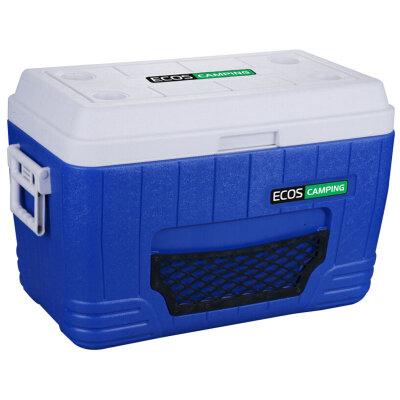 Термобокс для продуктов на 52 литра ECOS W52-72 с двумя ручками, 660x345x430 мм