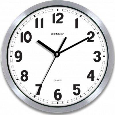 Часы круглые настенные кварцевые 30 см ENERGY ЕС-47 с металлическим ободком