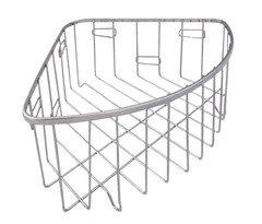 Полочка угловая для ванной Regent 402005 17x17x11 см хромированная сталь