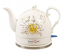 Керамический чайник электрический 1.2 л MAXTRONIC MAX-NK-053 РАССВЕТ 1000 ватт