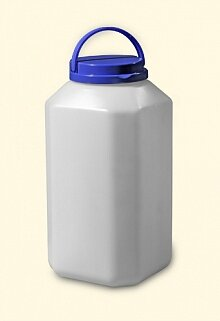 Бидон квадратный пластиковый 6 л МегаПласт, Белый