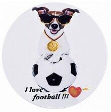 """Подставка под пивную кружку """"I love football"""" керамика с пробковой основой 11x11 см арт. 229-258 Арти-М"""