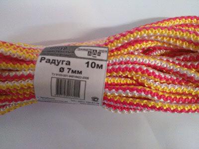Шнур полипропиленовый диаметр 7 мм, длина 10м
