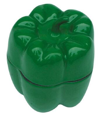 """Горшок для запекания чугунный 0.4 л, """"Перец Зеленый"""" Regent 93-FEs-12-14.3"""