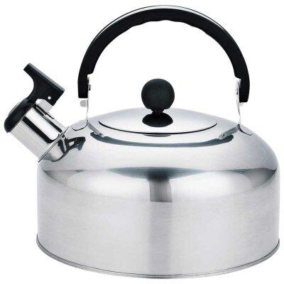 Чайник на плиту 2 л Mallony Casual со свистком из нержавеющей стали, зеркальная полировка