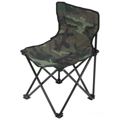 Складной походный стульчик со спинкой для рыбалки ECOS TD-08 34х34х56 см, камуфляж, с чехлом