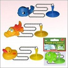 Пробка для ванны с игрушкой на цепочке DH34-15 из резины