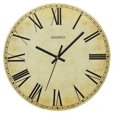 Часы настенные кварцевые ENERGY ЕС-132 круглые 30x4.5 см плавный ход