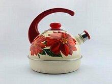 Чайник 3.5 л T04/35/04/09/H13 Рубин эмалированный на плиту со свистком