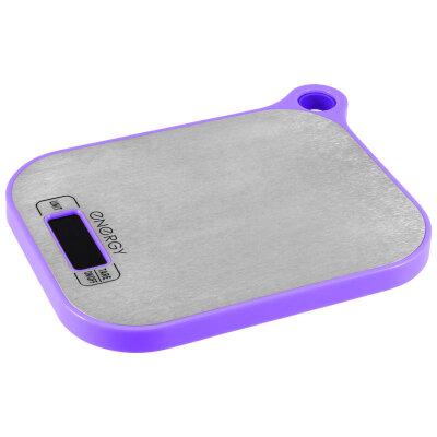 Весы кухонные электронные до 5 кг Energy EN-411 Фиолетовые