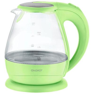 Чайник электрический стекло с подсветкой 1.5 л ENERGY E-266-Gr 2200 вт, Зеленый
