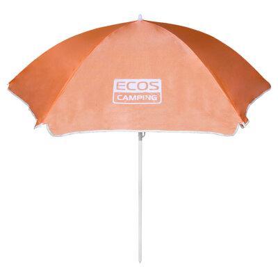 Зонт от солнца на пляж со складной штангой 1.7 м ECOS BU-05 , диаметр купола 1.6 м, 6 спиц