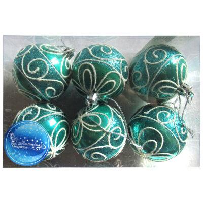 Набор елочных шаров 6 см SYCB17-306 6 шт