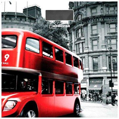 Весы бытовые напольные электронные до 180 кг Лондонский Автобус HS-6001F стеклянная поверхность