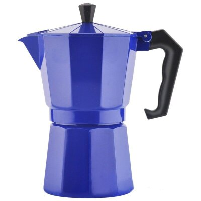 Mallony Grande Кофеварка гейзерного типа 300 мл на 6 чашек Фиолетовая