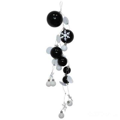 Гирлянда пластиковая из шариков Черный жемчуг SYCB17B-070 55 см