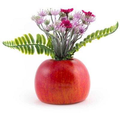 Букет искусственных цветов Красное яблоко 10x10x20 см для декора