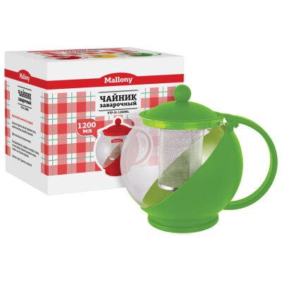 Чайник заварочный с фильтром 1.2 л PTP-01-1200ML Mallony