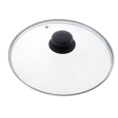 Крышка 18 см Mallony стеклянная, металлический ободок, паровыпуск