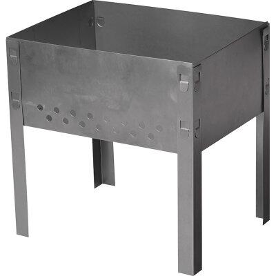 Мангал складной для пикника 320х240 мм без шампуров, сталь 0.5 мм