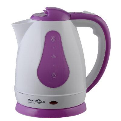 Чайник электрический пластиковый 1.8 л MAXTRONIC MAX-801 сиреневый, 1800 Вт, дисковый