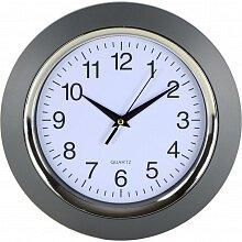 Часы круглые настенные 24.5 см MAX-9827A5 Симпл кварцевые интерьерные с большими цифрами