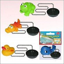 Пробка для ванной с игрушкой J34-14 резиновая