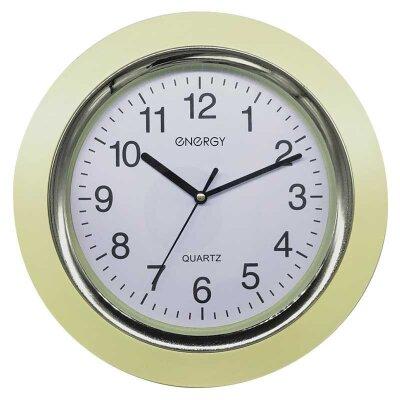 Часы кварцевые настенные ENERGY ЕС-135 круглые 28x4.5 см плавный ход